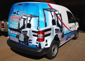 digitally printed graphics for vehicle branding Gauteng